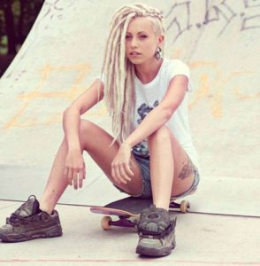 Long Blonde Dreads with Undercut