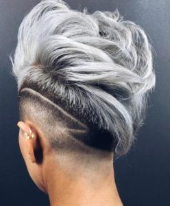 Punk Platinum Faux Hawk