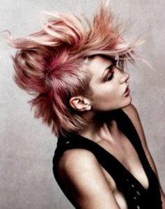 Blorange Punk Faux Hawk for Women