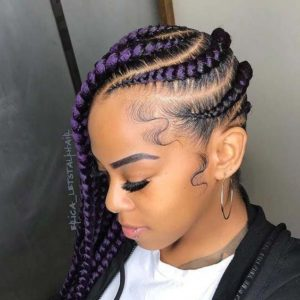 Purple rain lemonade braid