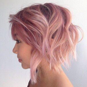Curly Pink Bob