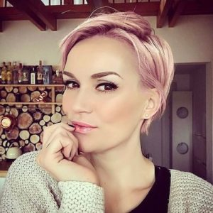 Metallic Pink Pixie Cut