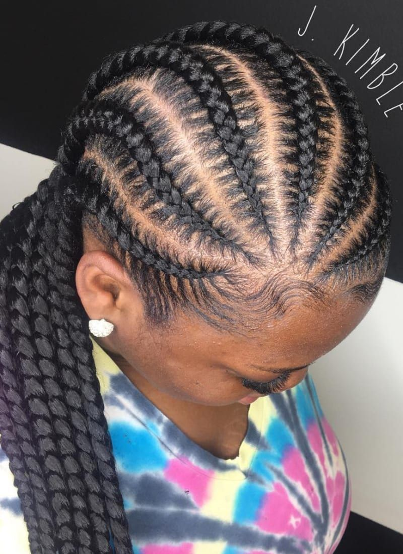 83e95eeaaf703b 35 Stunning Feed in Braids Hairstyles To Try This Year!