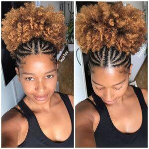 puffy hair cornrow