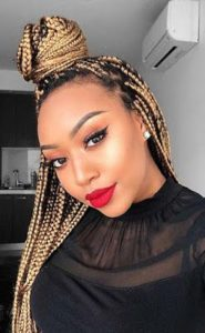African braids with highlights