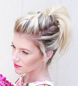 Braided Faux Hawk with Ponytail