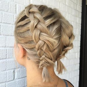 Chunky Double Dutch Braid for Short Hair