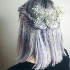 Fishtail Braid Crown on Short Hair