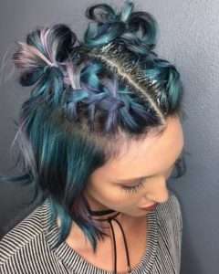 Four-Strand Braids and Space Buns