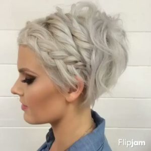 Pixie Crop with Multiple Braids