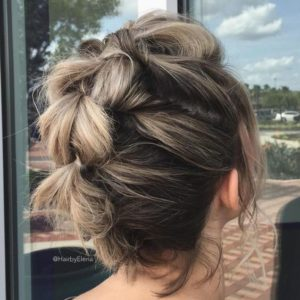 Pull-Through Braid Faux Hawk