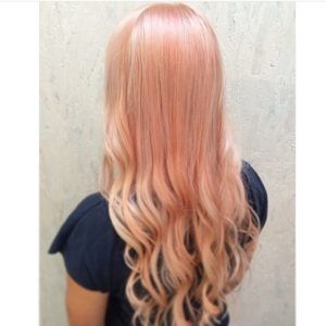 Pink Hair with Cinnamon Highlights