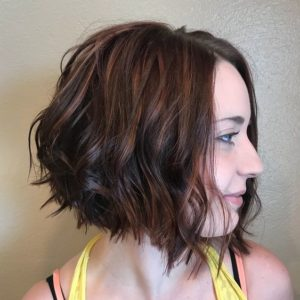 Brunette with Cinnamon and Pink Highlights