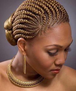 Golden kiss african braid