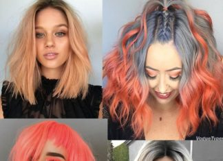 Peach Hair Colour Ideas