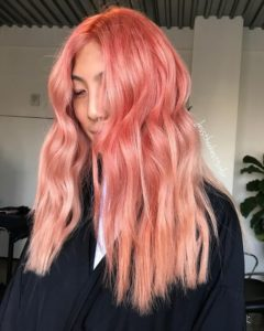 Long Peach Hair with Ombre