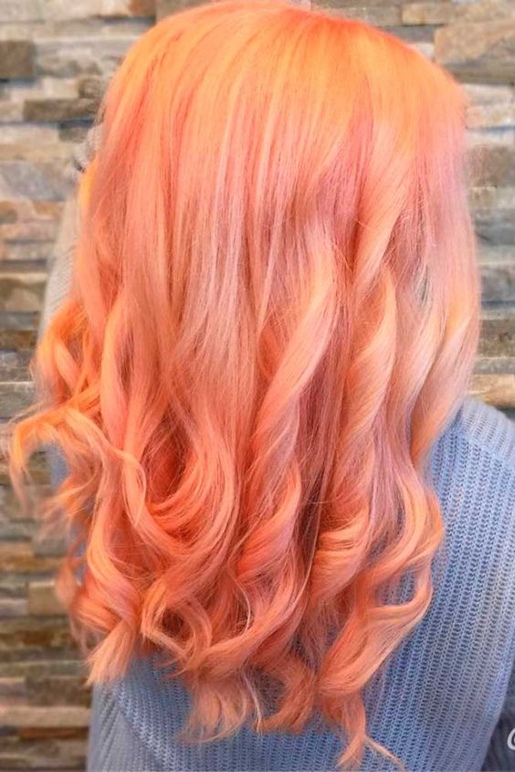 Peach Hair Color The Best Looks Of The Peach Hair Trend