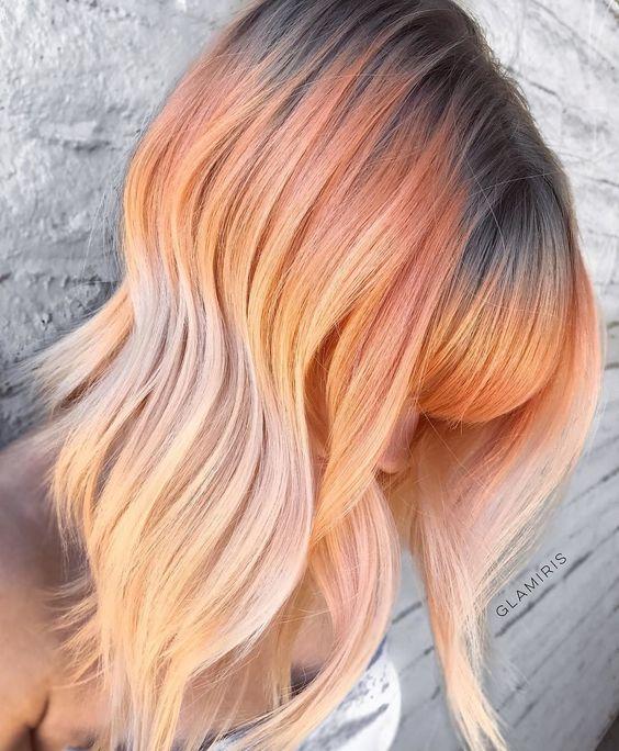 Peach Hair Color The Best Looks Of The Peach Hair Trend