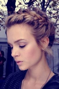 Braided Updo with Chic Texture
