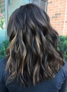 Ebony Waves with Caramel Highlights