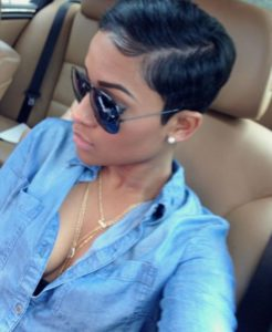 sleek Pixie Cut natural hair