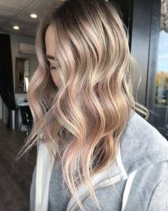 Ash Blonde Tortoiseshell with Baby Pink Highlights