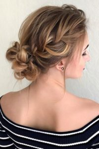 Tortoiseshell Hair in Bridal Updo
