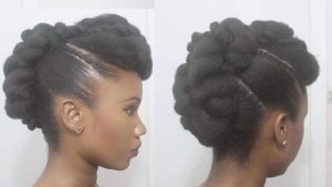 atural Twisted updo