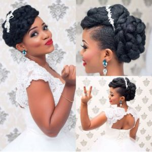 black wedding updos
