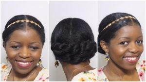 crown black updo