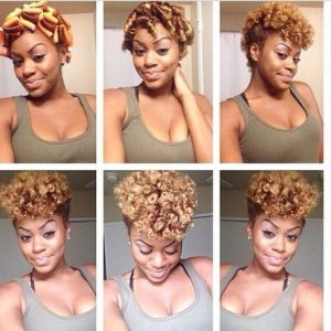 flexi rods on short hair