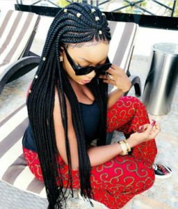 hip length african braid