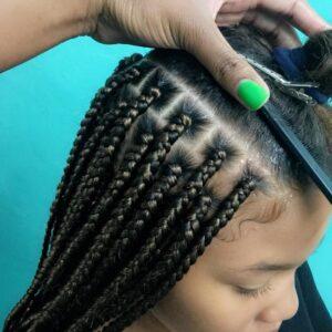 how to box braid