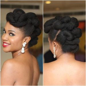 natural blalck updo