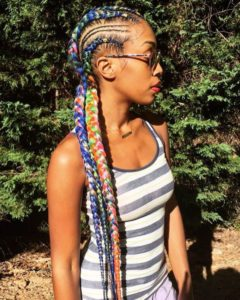 rainbow african braid