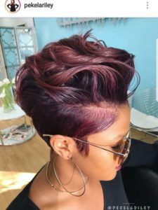red burgundy cut