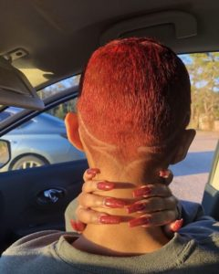 red shaved cut