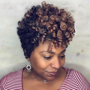 tapred curls crochet hair