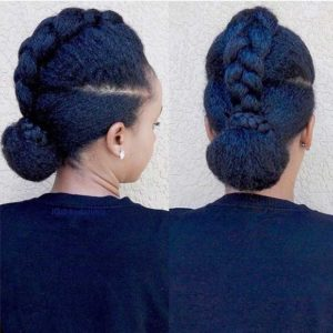 two bun braided updo