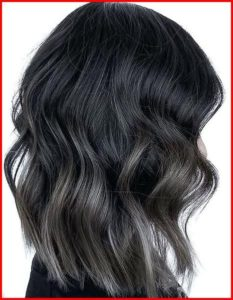 Black Hair with Subtle White Highlights