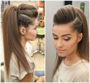 Rock Chick Crimped Hairstyle