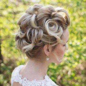 Bridal Pin Curl Up Do