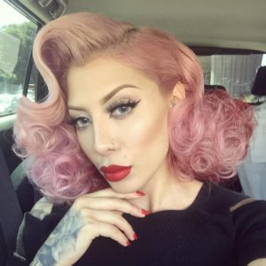 Fluffy Pink Pin Curls