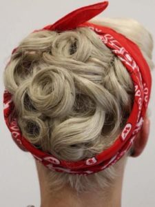 Pin Up Hairstyle With Bandana
