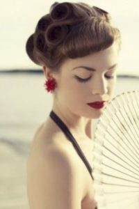 Vintage Up-do with Faux Bangs