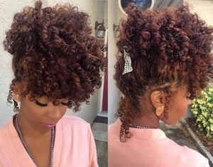 flexi rods curly style updo