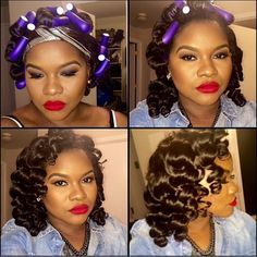 flexi rods pin curls