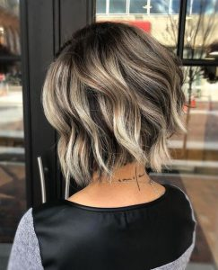 stacked asymmetrical balayage