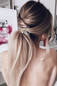 Beautiful Bridal Ponytail