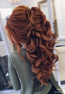 Curly Half-Up Bridal Style